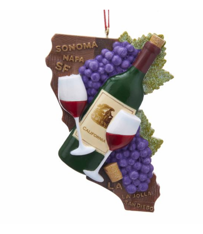 California State Wine Ornament