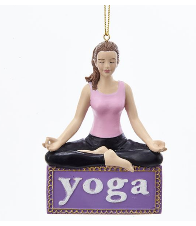 Yoga Girl Ornament For Personalization