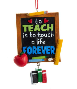 Blackboard Teacher Ornament