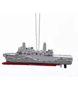 "4.5""RESIN NAVY SHIP ORN"