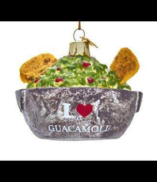 "Noble Gems™ ""I Love Guacamole"" Bowl Glass Ornament"