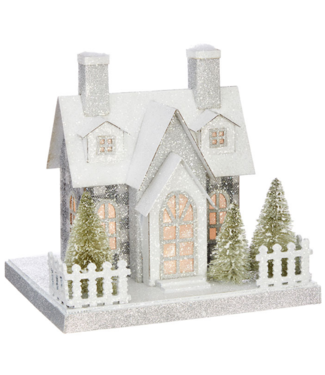 "8.75 "" LIGHTED HOUSE"