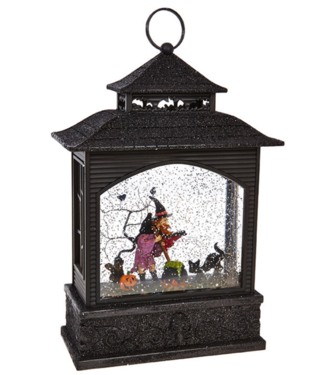 "11"" Witch Lighted Water Lantern"