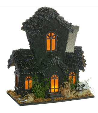 "12.75 "" LIGHTED HAUNTED MANSION"