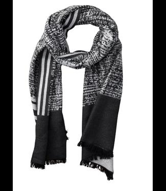 Black & White Temple Stripe Scarf
