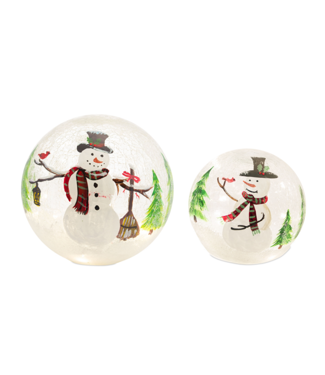 LED Snowman Globe w/6 Hour Timer