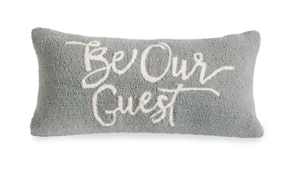 Be Our Guest Hooked Pillow The Royal Rooster