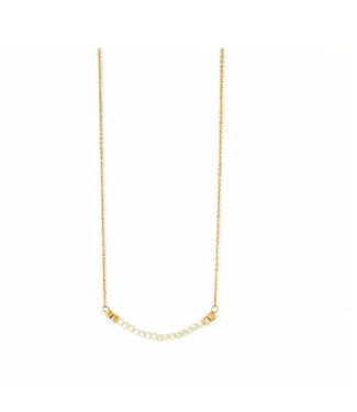 Ivory Rounded Bar Necklace
