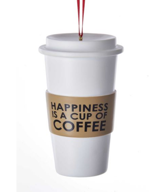 Coffee Cup Ornament For Personalization