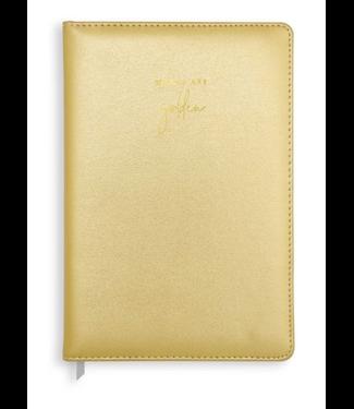 PU Notebook - Metallic Gold - Words Are Golden