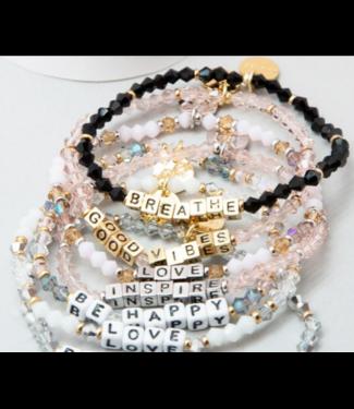 White Little Words Bracelet