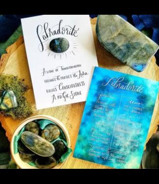 Crystal Rising Labradorite Crystal Card