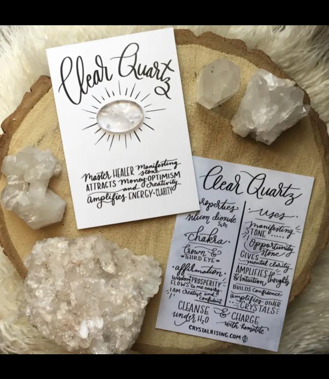 Crystal Rising Clear Quartz Crystal Card