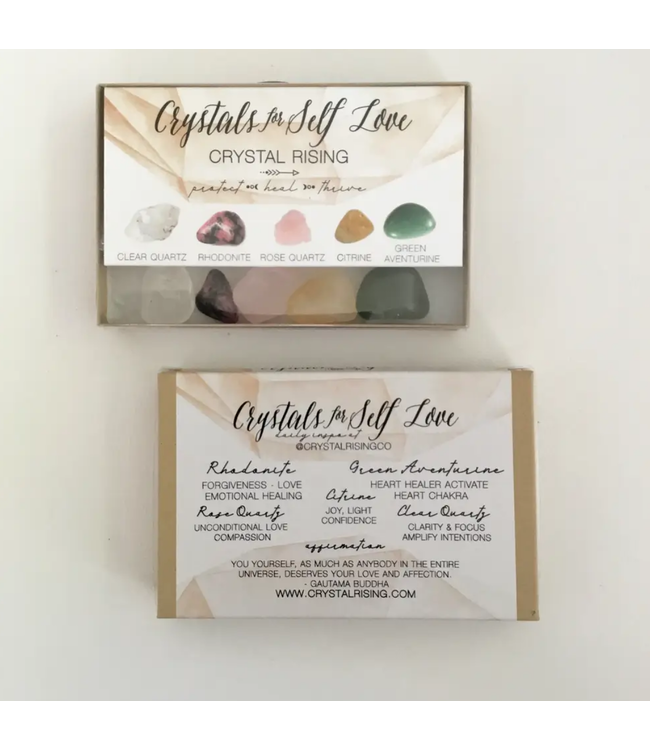 Crystal Rising Crystals for Self Love Boxed Set