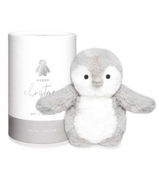 Baby Toy - Penguin - White and Grey