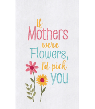 Mothers and Flowers Dishtowel