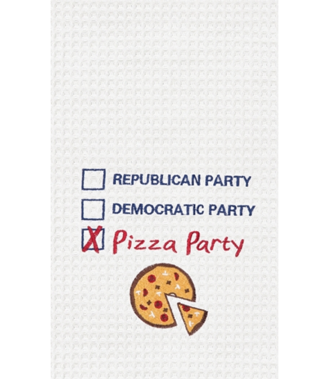 Pizza Party Waffle Towel
