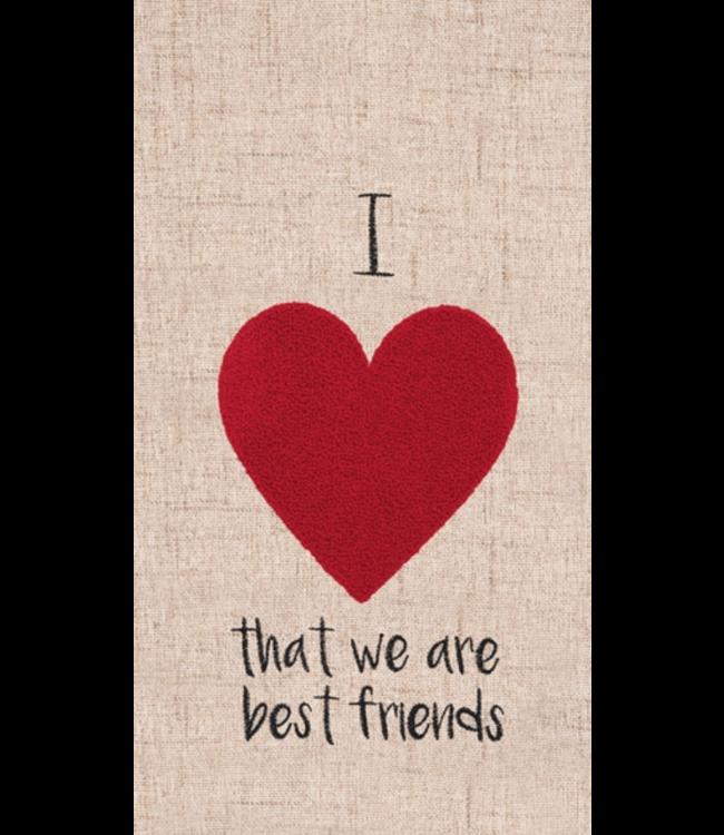 Heart Best Friends Kitchen Towel