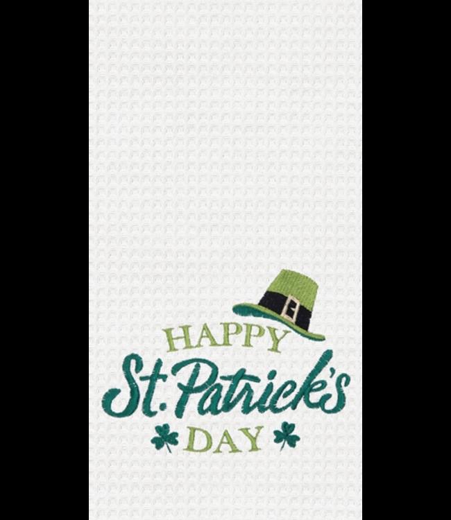 Happy St Patricks Day Waffleweave Towel