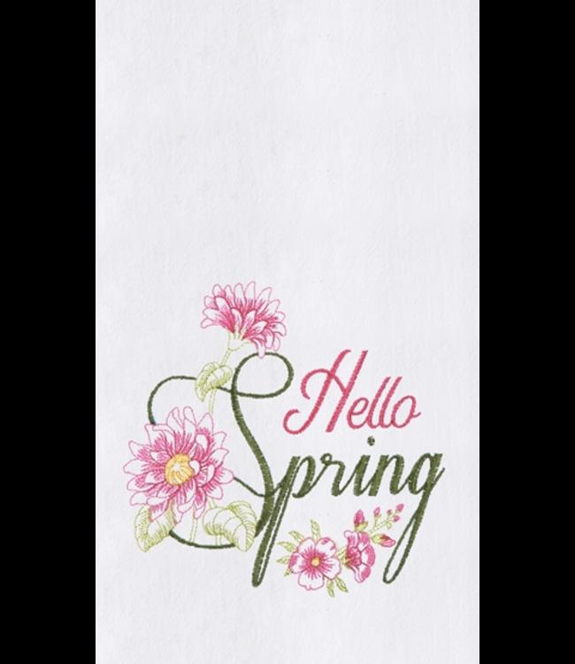 Hello Spring Towel