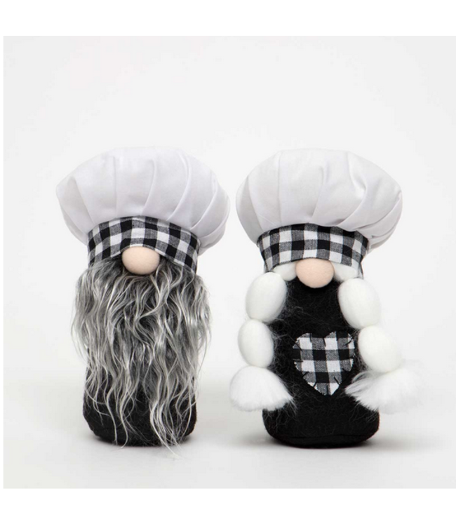 """CHEF and CHEFETTE GNOME BOY/GIRL SMALL 3.5""""X7.5"""""""
