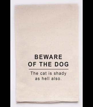 Beware of the Dog Dishtowel