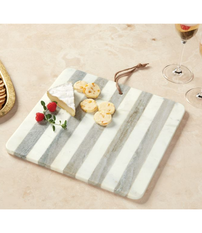 Mud Pie Marble Striped Board