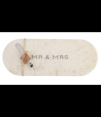 Mud Pie Mr. & Mrs. Marble Board Set