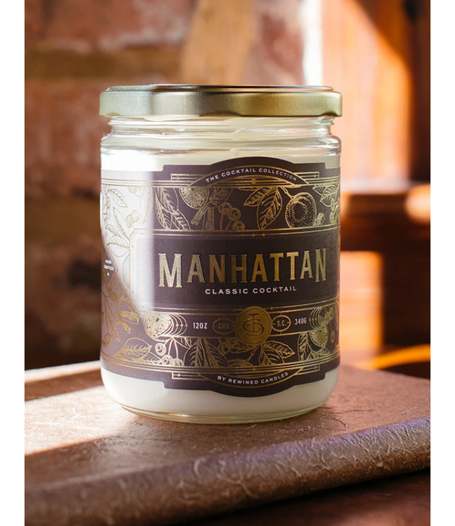 Rewined Cocktail Collection Manhattan Candle 12oz