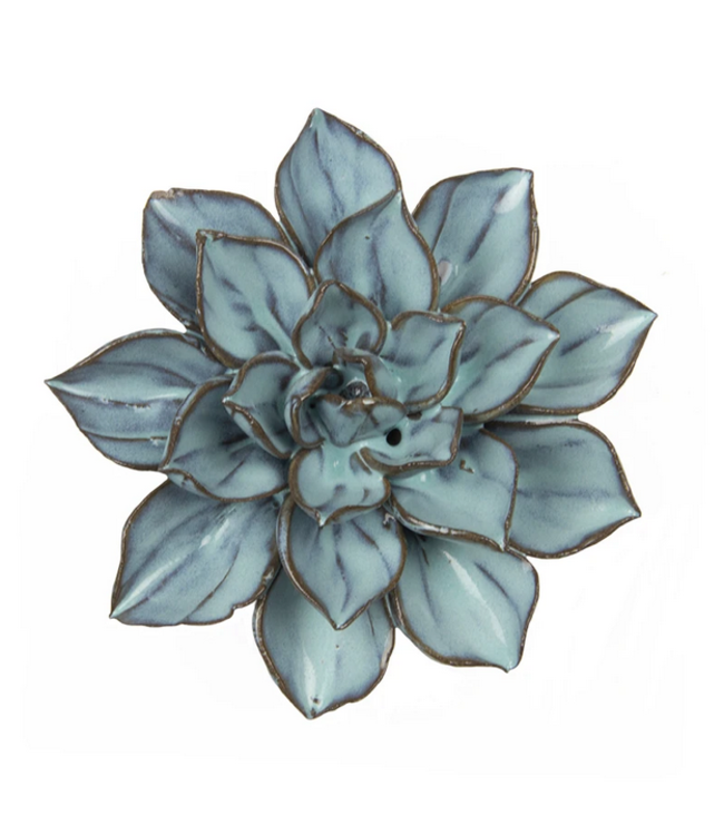 Chive Ceramic Succulent Small Flower Blue Brown