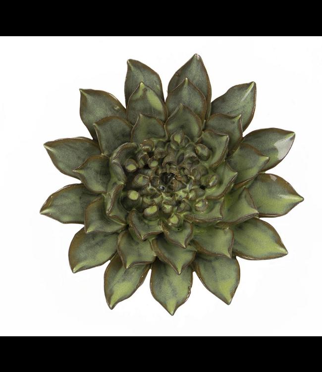 Chive Ceramic Succulent Medium Flower Green