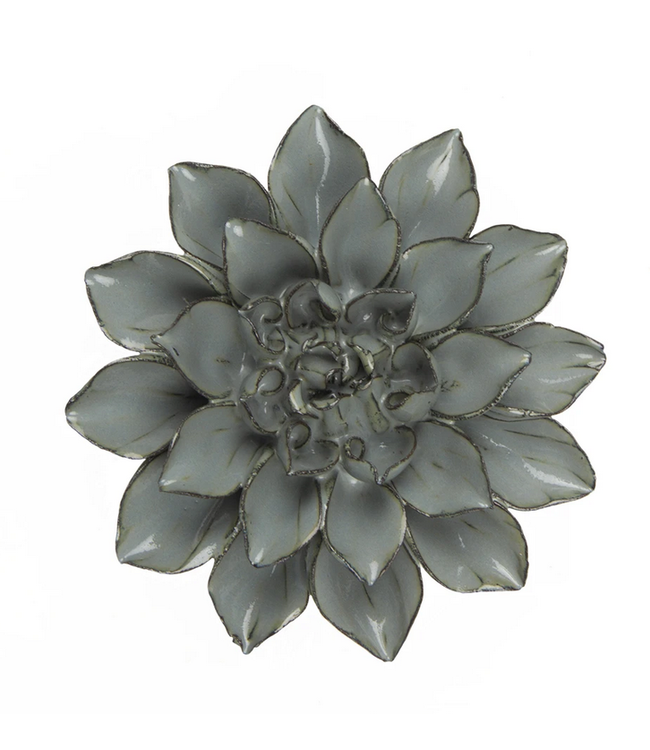 Chive Ceramic Succulent Medium Flower Aqua Black