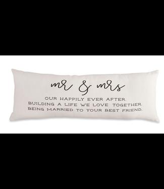 Mud Pie Mr Mrs Definition Pillow