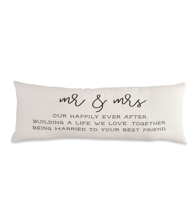 Mud Pie Mr Mrs Definition Pillow