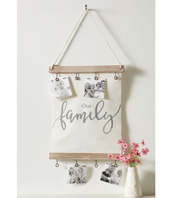 Mud Pie Our Family Canvas Clip Frame
