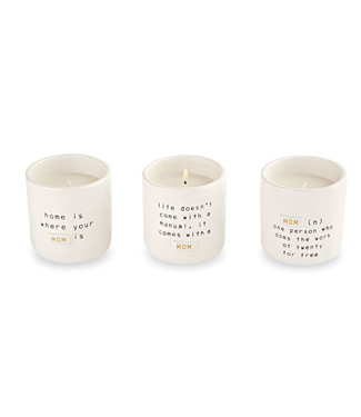 Mud Pie Mom Boxed Candles