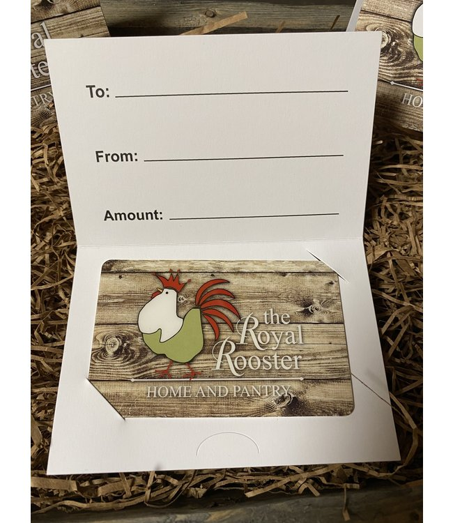 Royal Rooster Shop Gift Card $150