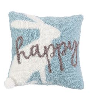 Mud Pie Happy Bunny Small Hook Pillow