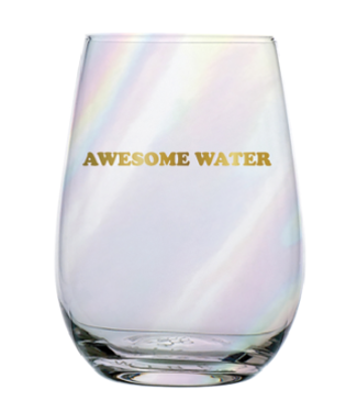 Stemless Wine Glass Awesome Water 20oz
