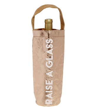 Raise A Glass Wine Bag