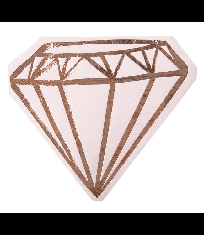 Napkin Diamond Pink Cocktail 20ct
