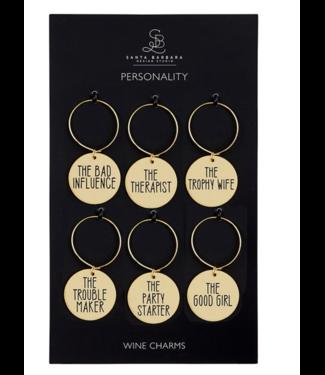 Wine Charm Set Personality
