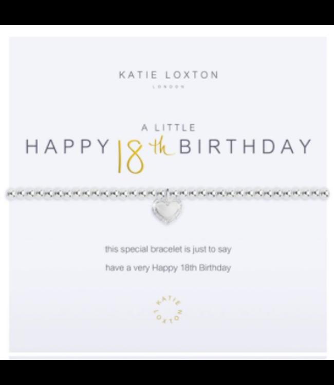 a little HAPPY 18TH BIRTHDAY - bracelet