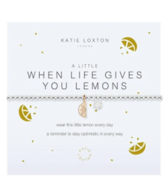 a little WHEN LIFE GIVES YOU LEMONS - bracelet