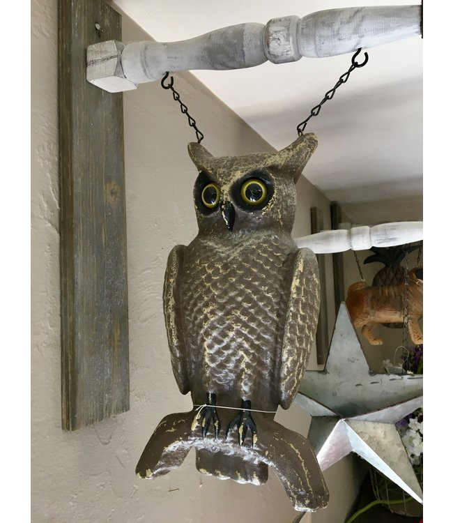 Brown Owl Sitting on Branch Arrow Replacement