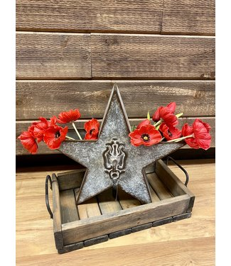 Tin Wall Star with Pocket Large 14""