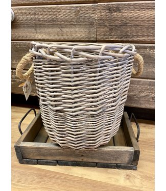 Mud Pie Wicker Basket Small 11""