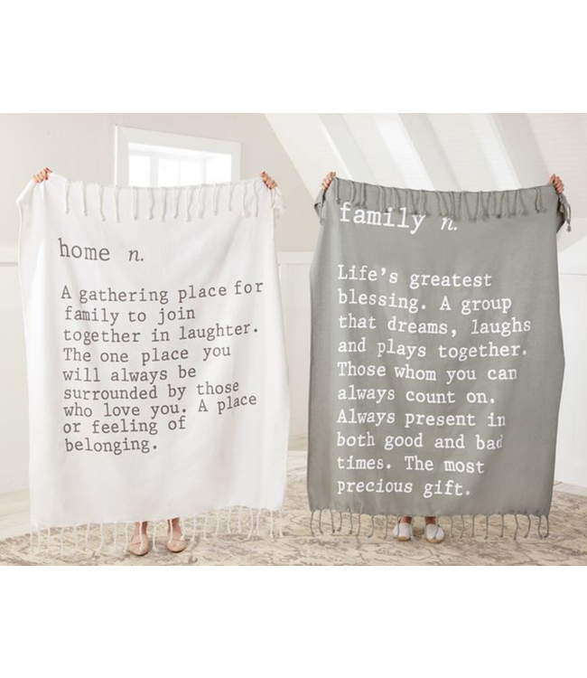 Mud Pie FAMILY DEFINITION BLANKET