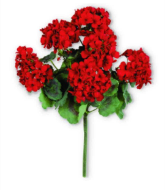 """18"""" Red Geranium Bush"""
