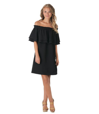 Pippa Off the Shoulder Dress Black Large